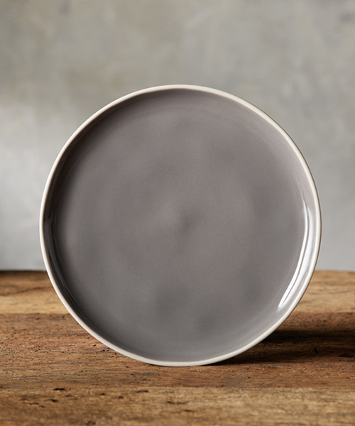 Avignon Grey Polished Salad Plate