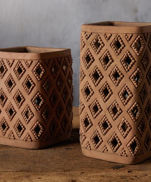 Bahati Terracotta Lantern