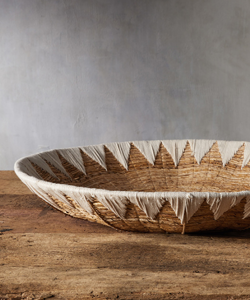 Banana Bark Handwoven Bowl