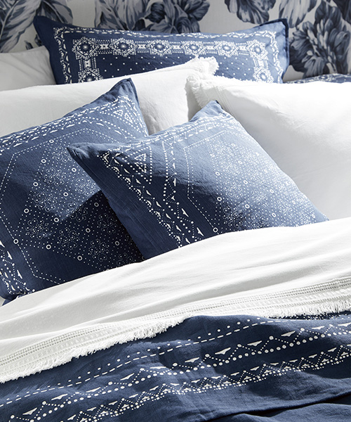 Blue Bandana Bedding