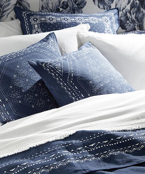 Blue Bandana Bedding