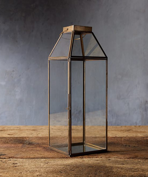 Framed Brass Lantern