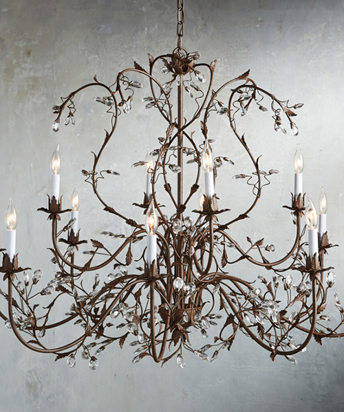 Italian Glass Crystal Chandelier