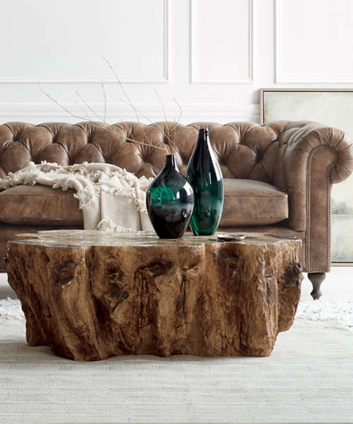 Clayhill Petrified Wood Coffee Table