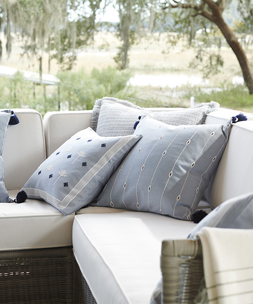 Coastal Blue Pillow Cover