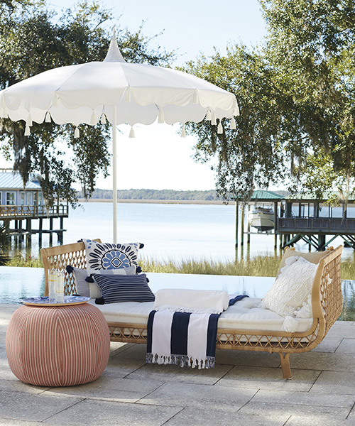Coastal Outdoor Ottoman