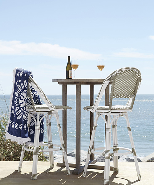 Coastal Outdoor Swivel Stool