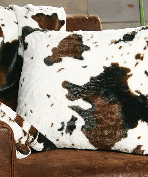 Cowhide Plush Pillow