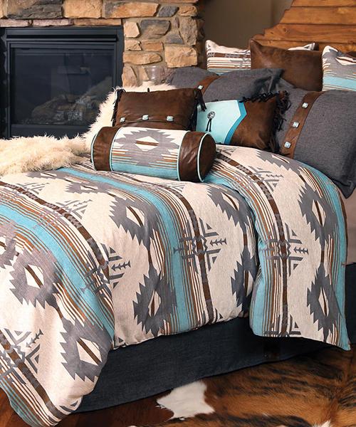 Dakota Rustic Turquoise Bedding