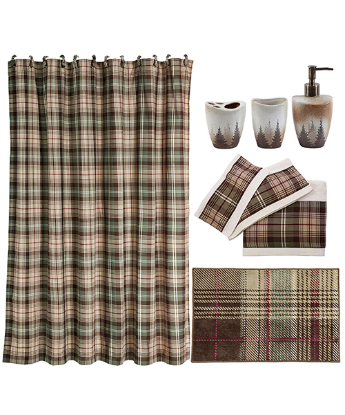 Durango Rustic Plaid Bath Set