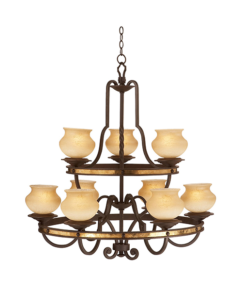 Durango Western Wrought Iron Chandelier