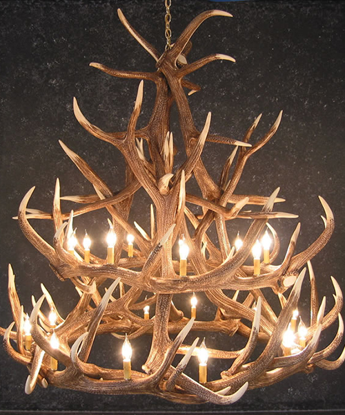 Reproduction Elk Antler Chandelier