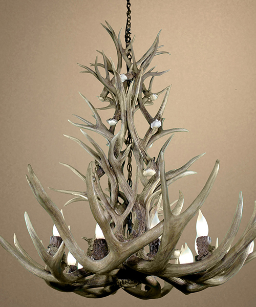 Real Mule Deer Chandelier