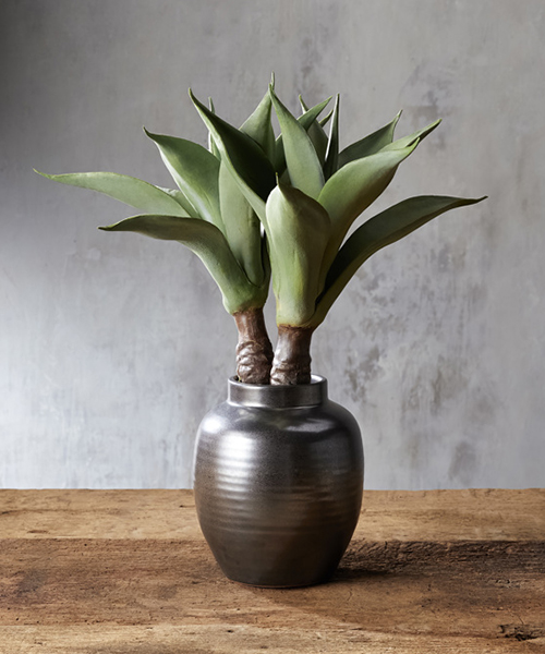 Faux Aloe in Vase