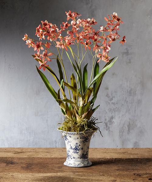 Faux Orange Orchid