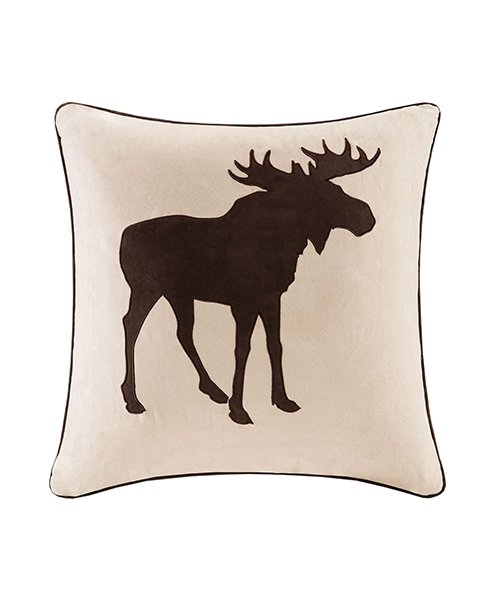Faux Suede Moose Pillow