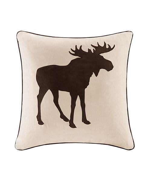 Faux Suede Moose Pillow