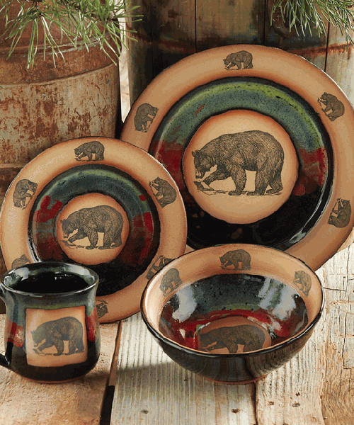 Forest Bear Pottery Dinnerware