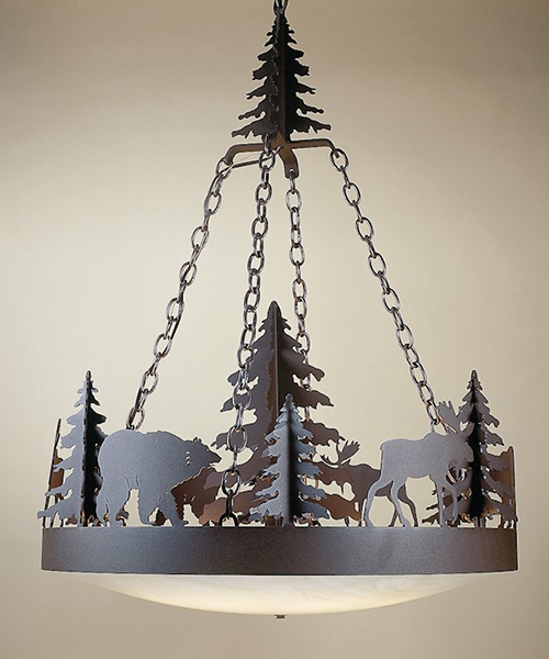 Frontiersman Wildlife Chandelier