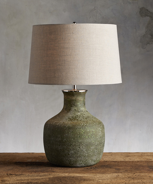 Galena Rustic Green Lamp