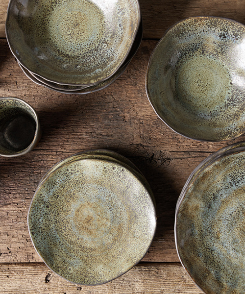 Rustic Green Dinnerware