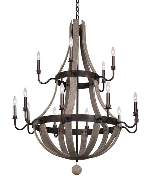 Harper 2 Tier Farmhouse Chandelier