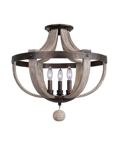 Farmhouse Semi Flush Light