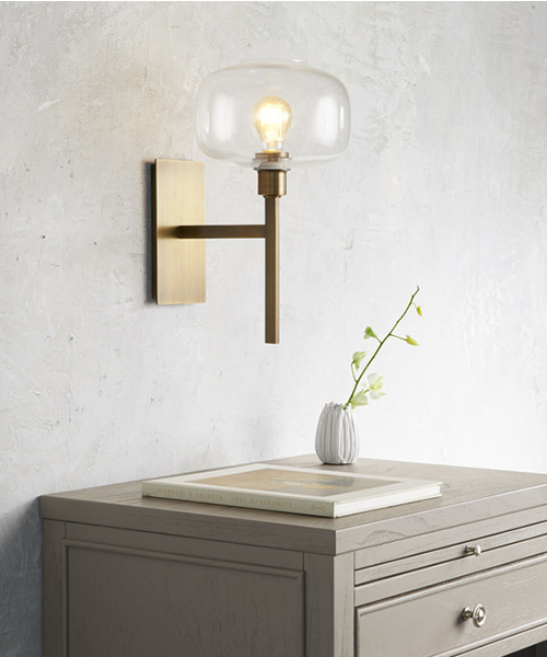 Hubbard Brass Wall Sconce