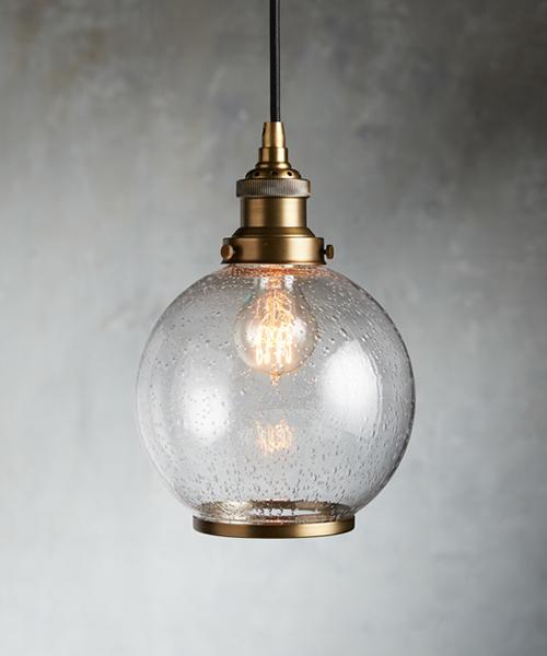 Antique Brass Globe Lighting