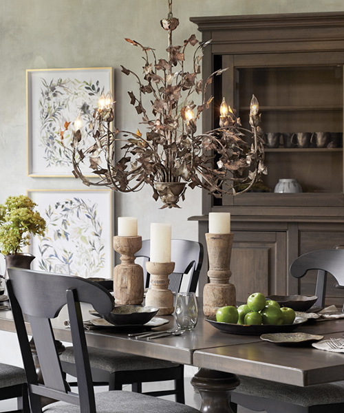 Ivy Large Iron Chandelier | Cabin Decor