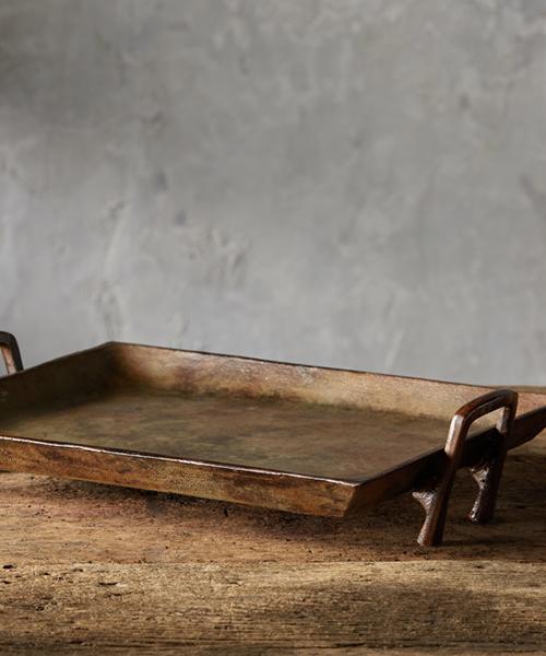 Copper Patina Rustic Tray