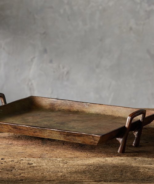 Copper Patina Rustic Tray