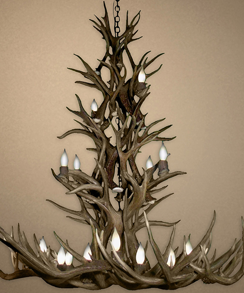 Real Large Mule Deer Chandelier