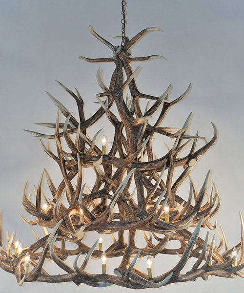 Lodge Style Elk Chandelier