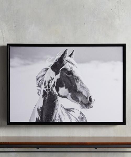 Pensive Framed Horse Print