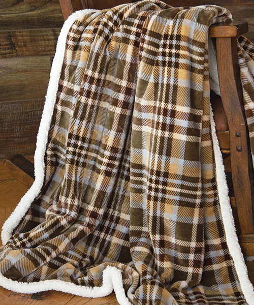 Plaid Plush Throw