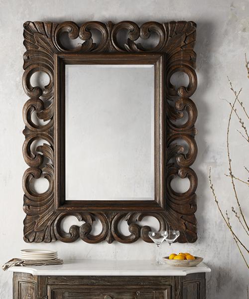 Porter Teak Rustic Mirror