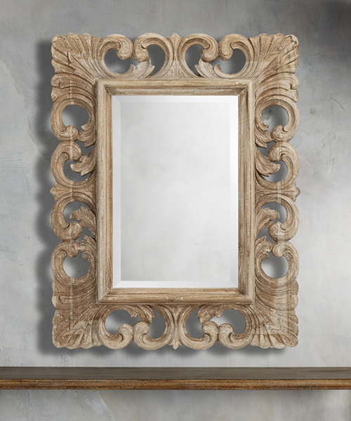 Teak Mirror in Rustic