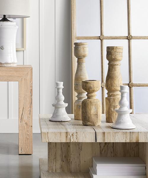Wood Pillar Holders