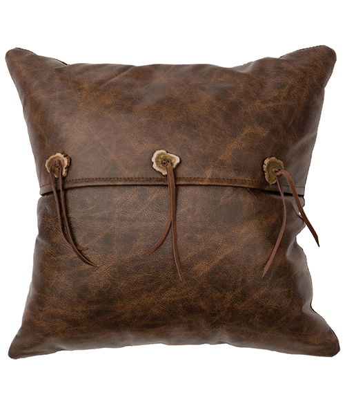 Rustic Leather Pillow