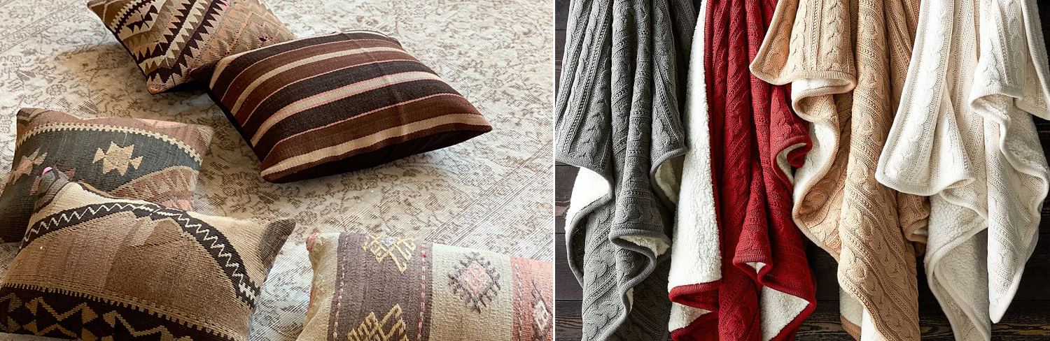 Rustic Pillows & Throws