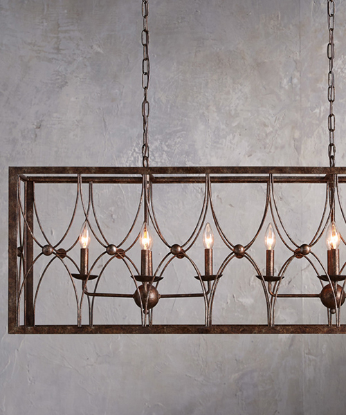Rectangular Farmhouse Chandelier