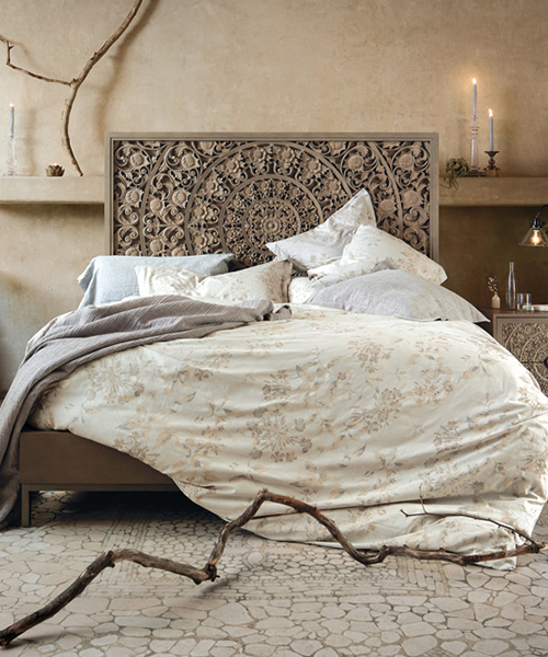 Sophie Floral Jacquard Duvet Cover