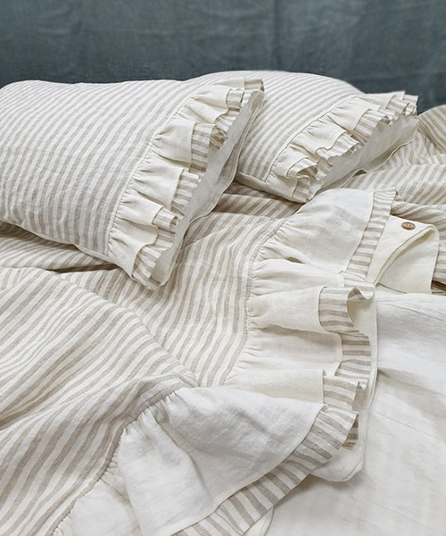 Stripe Farmhouse Bedding