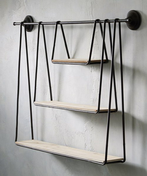 Rustic Hanging Shelves