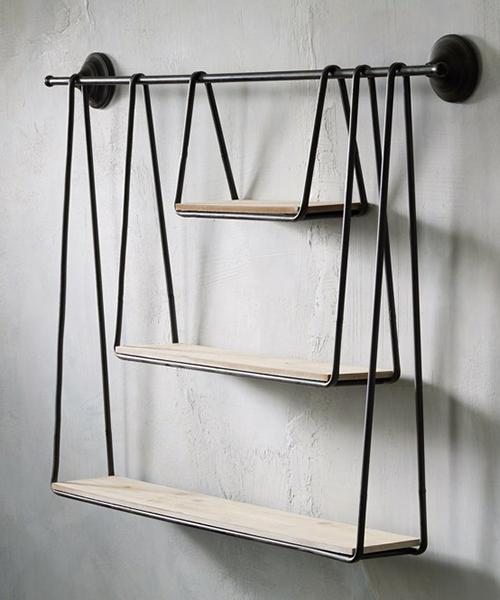 Rustic Hanging Shelves