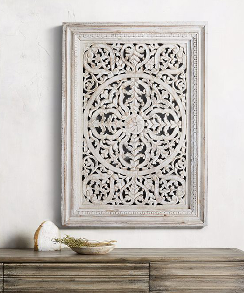 Carved Wood Panel Art