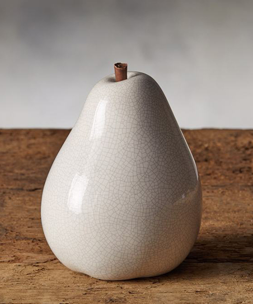 White Ceramic Pear