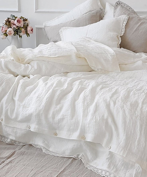 White Farmhouse Bedding