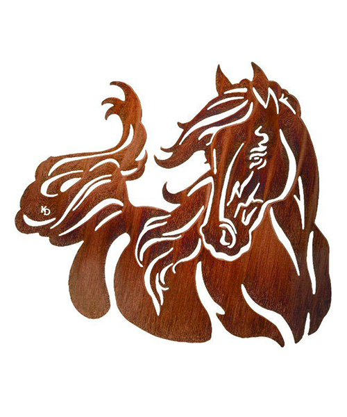 Windy Horse Metal Artwork